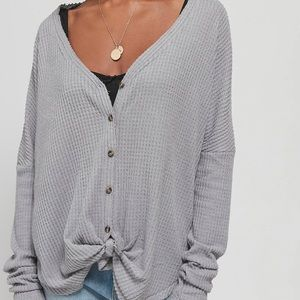 Oversized thermal long sleeve